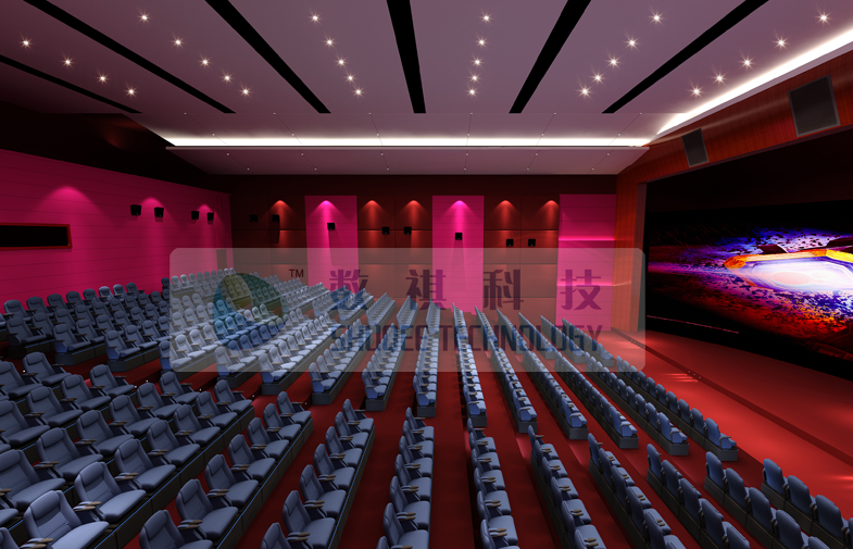Luxury Large 4D Theater System With Motion chair / Special Effect System