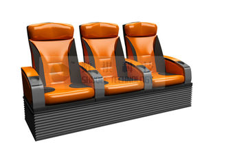 Real leather 4D Theater Seats supplier
