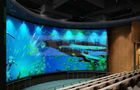 China Large curved screen 3D theatre cinema system with bubble snow rain lighting special effect system distributor